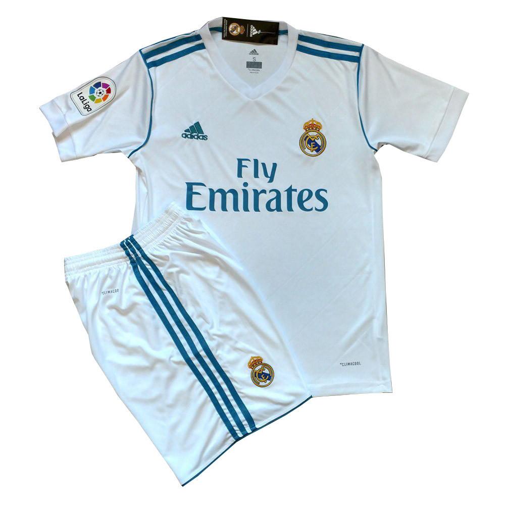 Футбольная форма Real Madrid безномерная (реплика) домашняя 2017-2018 белая