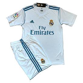 Футбольная форма Real Madrid безномерная (реплика) домашняя 2017-2018 белая d5cae09efb9