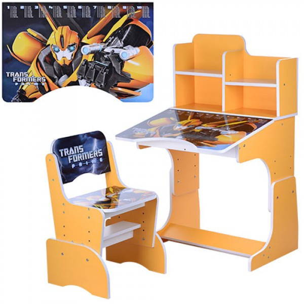 Детская парта-трансформер со стульчиком Трансформеры, W 2071-42-2 оранжевый