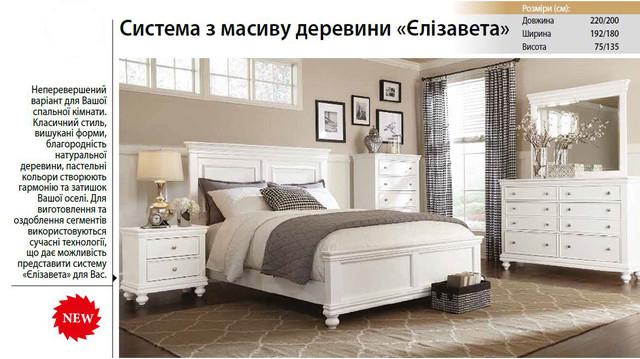 Кровать двуспальная Елизавета (характеристики)