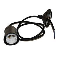 Патрон-светильник подвесной Е27 в металлическом корпусе никель ST 796