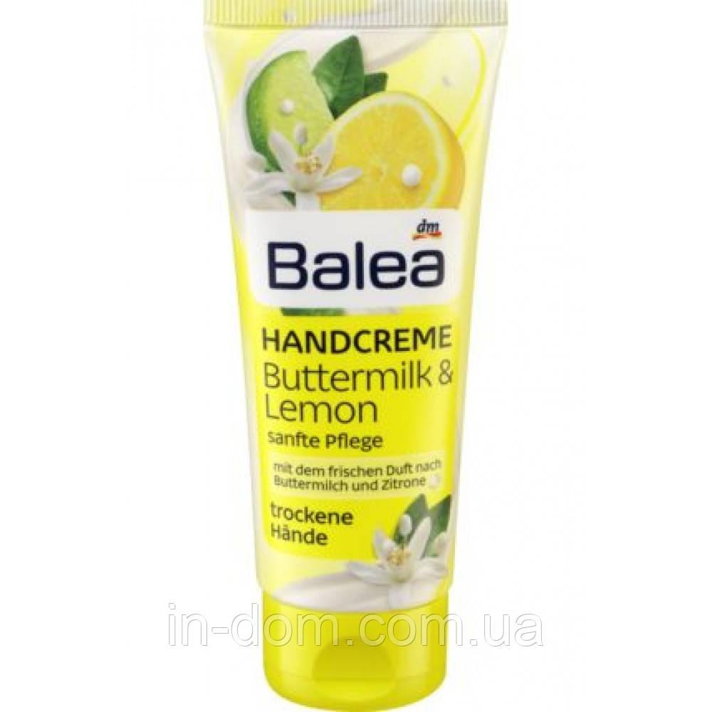 Balea handcreme buttermilk & lemon крем для сухой кожи рук пихта и лимон 100ml