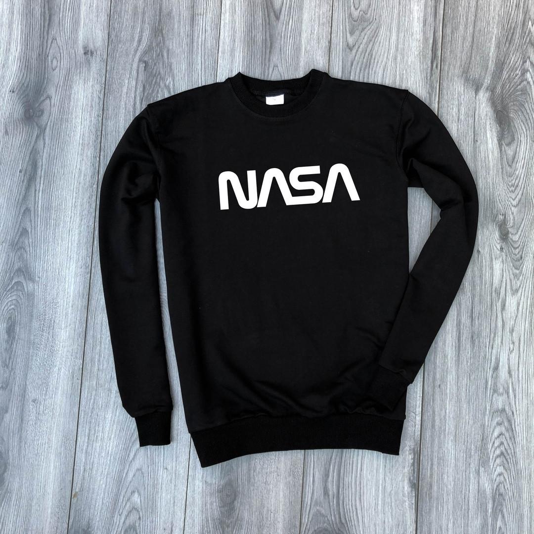 f977230069b2 Мужской весенний свитшот NASA стильный модный (черный): продажа ...