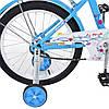 Детский двухколесный велосипед Flower Profi 18 дюймов, L1884 голубой, фото 3