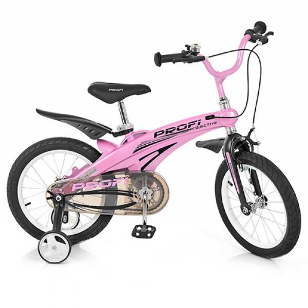 Детский двухколесный велосипед Projective Profi 16 дюймов, LMG16122 розовый