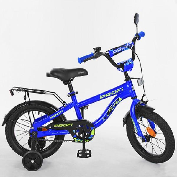 Детский двухколесный велосипед Space Profi 14 дюймов, T14151 синий