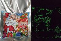 Сувенирная новогодняя подушка. Светится в темноте!, фото 1