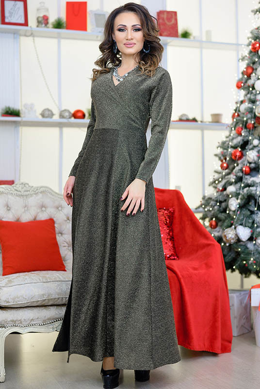 Вечірній золоте плаття Валері в підлогу