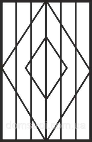 """Решётка на окно """"Ромбы"""", фото 2"""