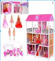 Кукольный домик с мебелью + 5-ть кукол 66885