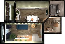 ЖК - Каховская Планировка 1-комнатной квартиры 37.62м2 (тип 1-37.62) без перепланировки