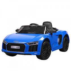 Детский электромобиль в стиле Audi R8 с кожаным сиденьем, JJ 2198 EBLR-4 синий