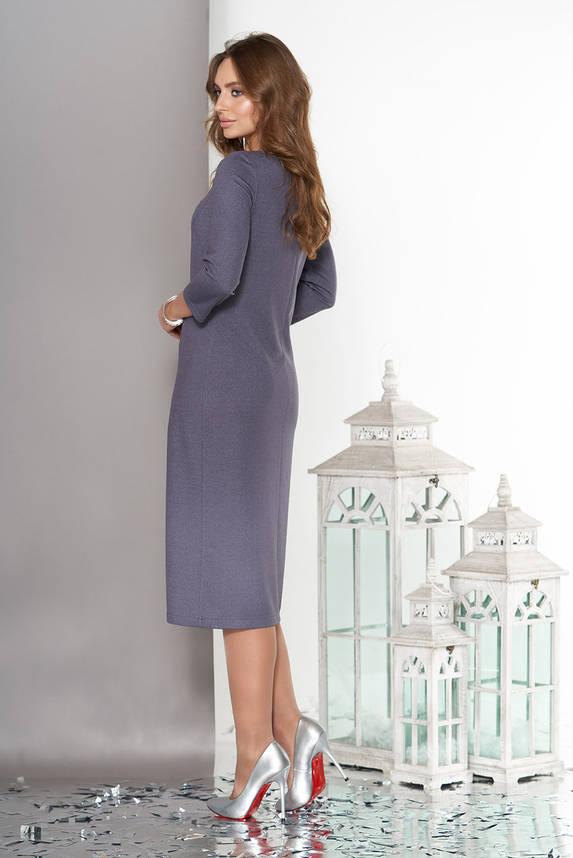 Трикотажное платье с рукавом 3/4 серое, фото 2