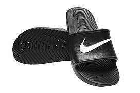 Шлепанцы Nike Kawa Shower 832528001 41  26 см Черные, КОД: 240212