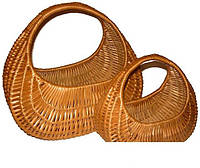 Набор корзин из лозы плетеные из 2 шт