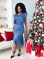e4e0a8e99235 Платье с воланами миди, цена 450 грн., купить в Николаеве — Prom.ua ...