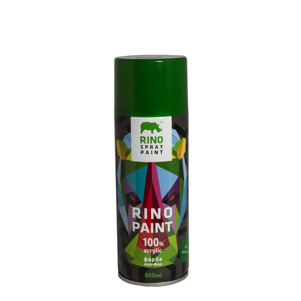 Универсальная акриловая аэрозольная эмаль  Rino Paint Зеленый 400 мл (37)