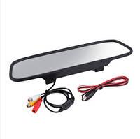 """Автомобильное Зеркало-накладка с монитором4,3"""" дюйма для камеры заднего/переднего вида"""