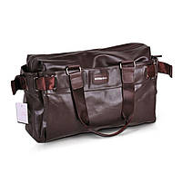 Дорожная мужская сумка в стильном дизайне. Коричневая