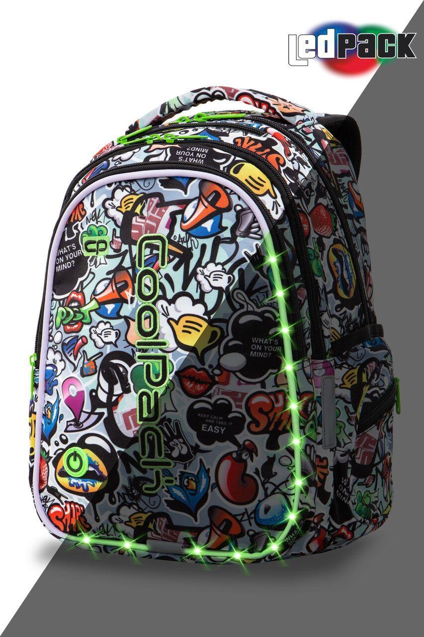 Рюкзак CoolPack LED 23L, модель Graffiti Joy M (41x29x20см)