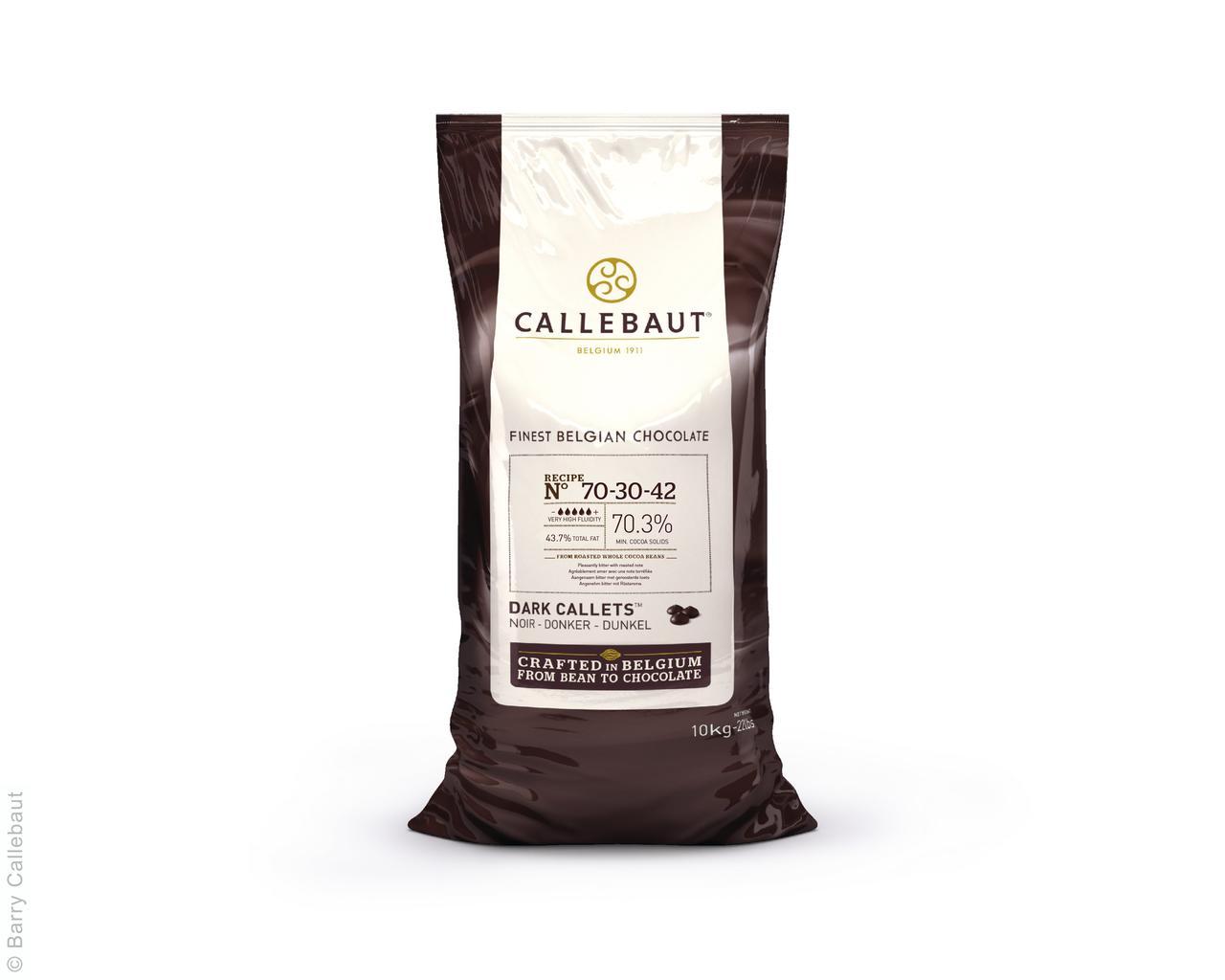 """Черный шоколад 70,3 % ( 5 капель) 10 кг  ТМ """"Callebaut"""""""