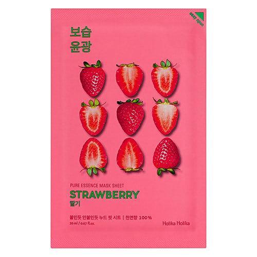 Тканевая маска клубничная Holika Holika Pure Essence Mask Strawberry