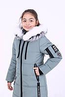 Зимняя куртка детская для девочки «Карина», сталь ТМ MANIFIK