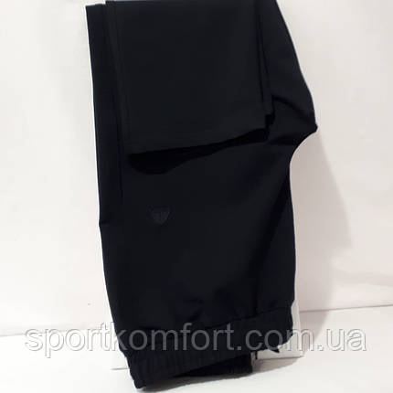 Турецкий трикотажный спортивный костюм Soccer, бирюза/чёрный, хлопок 70., фото 2