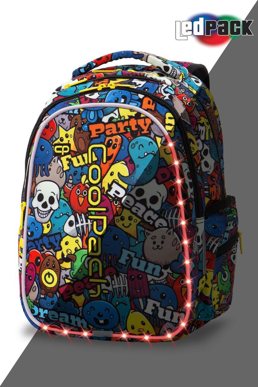 Рюкзак CoolPack LED 23L, модель Cartoon Joy M (41x29x20см)