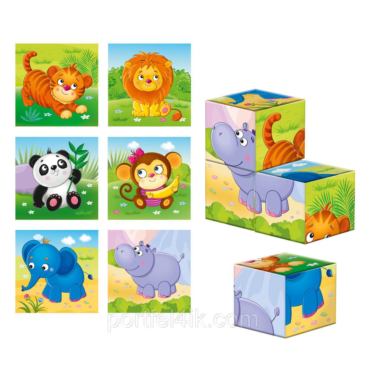 Дерев'яні кубики «Зоопарк»