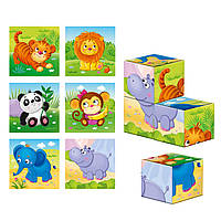 Дерев'яні кубики «Зоопарк», фото 1