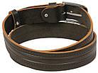 Мужской кожаный ремень под джинсы Skipper 1137-38 коричневый ДхШ: 128х3,8 см., фото 3