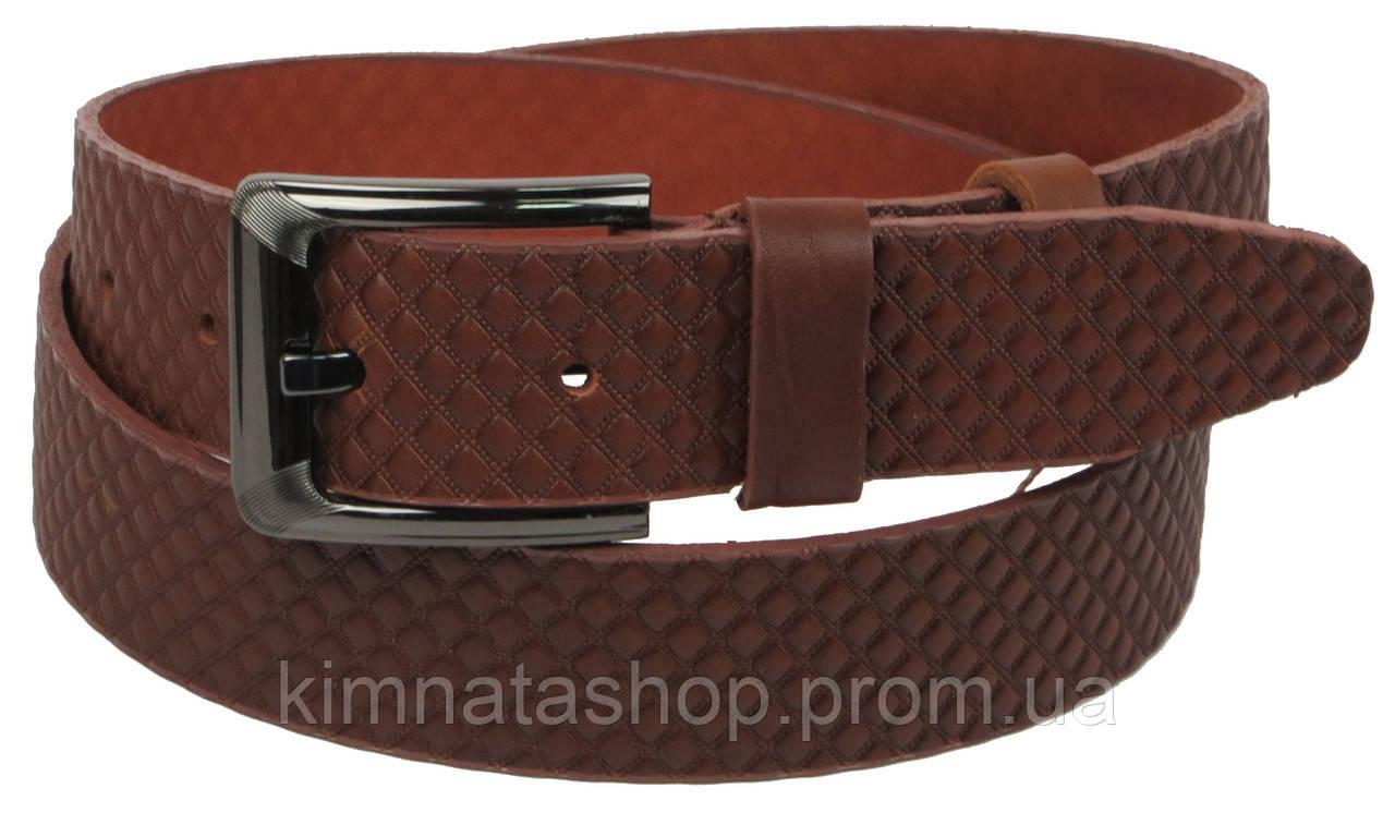 Мужской кожаный ремень под джинсы Skipper 1130-40 коричневый ДхШ: 125х4 см.