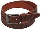 Мужской кожаный ремень под джинсы Skipper 1130-40 коричневый ДхШ: 125х4 см., фото 2