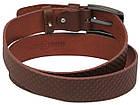 Мужской кожаный ремень под джинсы Skipper 1130-40 коричневый ДхШ: 125х4 см., фото 3