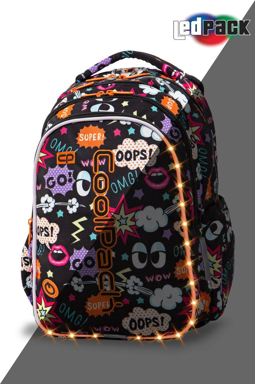 Рюкзак CoolPack LED 23L, модель Comics Joy M (41x29x20см)