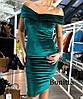 Силуэтное платье на плечи из бархата, фото 8