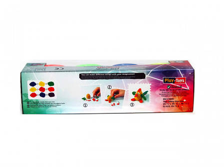 Масса для лепки Play-Toys НЕОН 4х50 г., фото 2