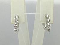 Серебряные серьги Алькор с фианитами. Артикул 2904/9Р-CZ, фото 1