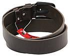 Мужской кожаный ремень под джинсы Skipper 1151-45 темно-коричневый ДхШ: 128х4,5 см., фото 3