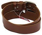 Мужской кожаный ремень под джинсы Skipper 1187-45 коричневый ДхШ: 124х4,5 см., фото 3