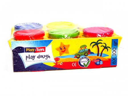 Масса для лепки Play-Toys 6кол.х100г., фото 2