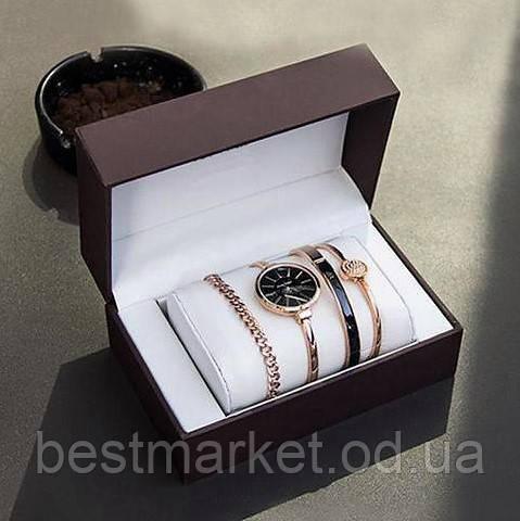 Годинник в подарунковій упаковці watch set ANNE KLEIN Roze gold black