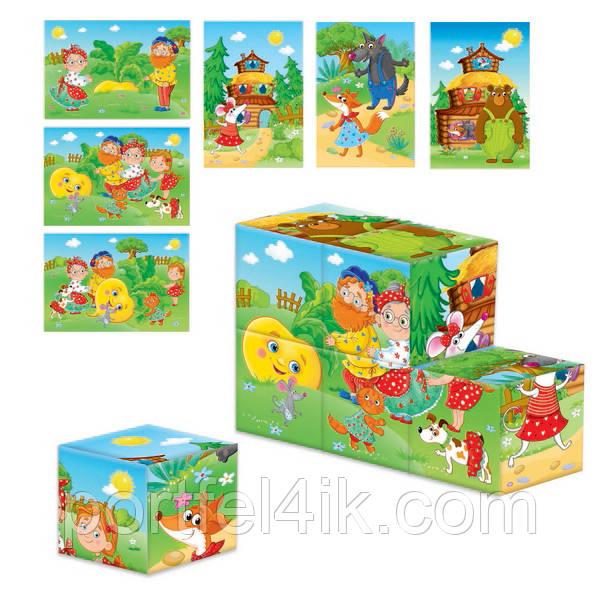 Дерев'яні кубики «Ріпка. Теремок»