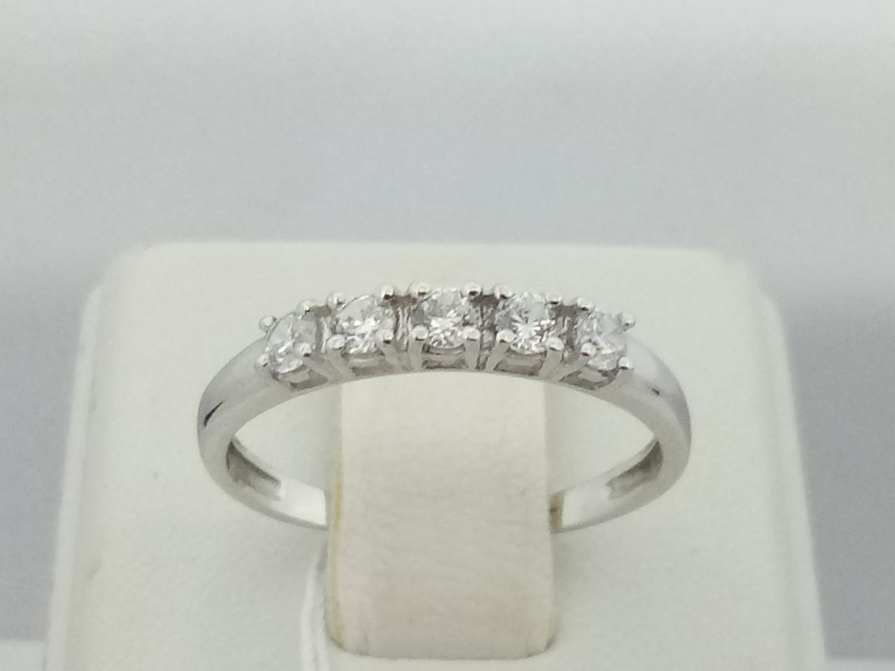 Серебряное кольцо Алькор с фианитами. Артикул 1318/1Р-CZ 17