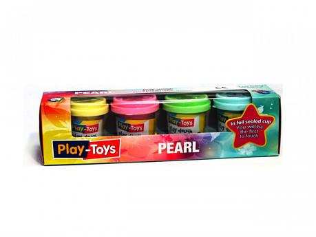 Масса для лепки Play-Toys ПЕРЛАМУТР 4х50 г., фото 2