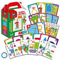 Картки на кільці «Цифри та фігури», фото 1