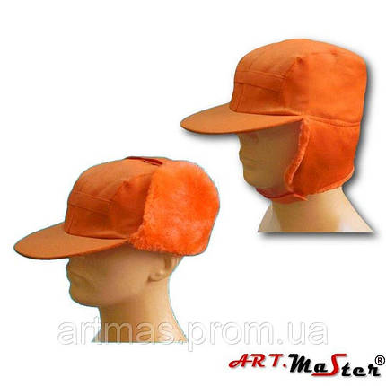 Шапка зимняя ARTMAS оранжевого цвета CZU - pomarańczowa, фото 2