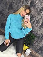 Мягкий тёплый трендовый свитер-гольф женский (елис), фото 1
