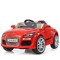 Детский электромобиль Audi с кожаным сиденьем, M 3891 EBLR-3 красный